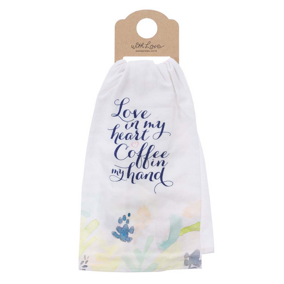Tea Towel - Love in My Heart Cotton (TWL019)