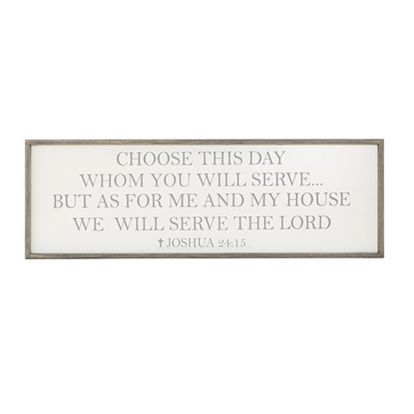 Plaque-Large-As For Me And My House-D3607