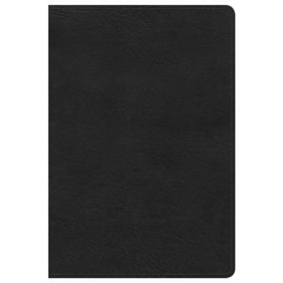 KJV-Giant Print Reference Bible - Black LeatherTouch