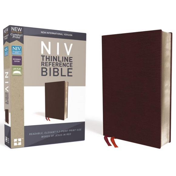 NIV Comfort Print Thinline Ref/ Bonded Leather
