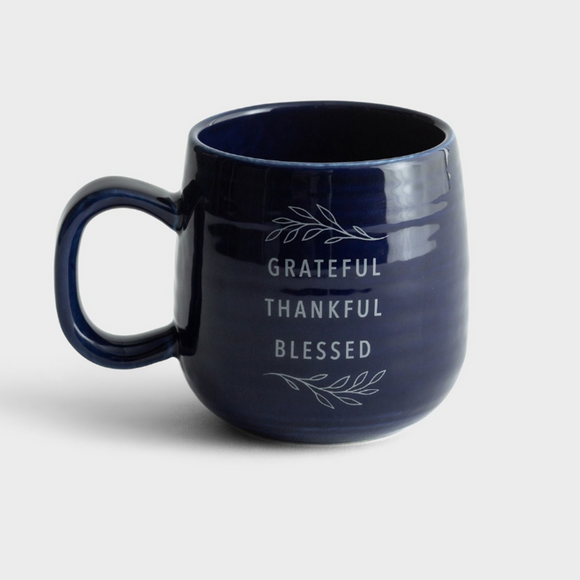 Ceramic Mug - Grateful Thankful Blessed (#J3876)