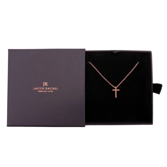CROSS NECKLACE - ROSE GOLD