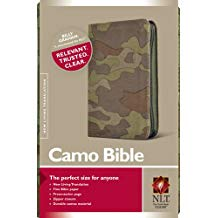 NLT-Camo Bible-Compact-Green Canvas w/Zip