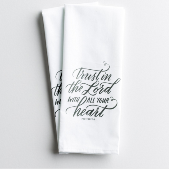 Tea Towel, Set of 2 - Trust In The Lord (#10392)
