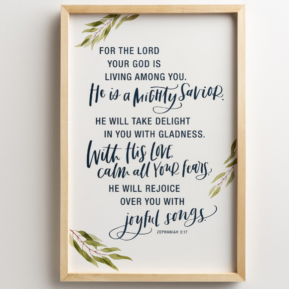 Botanical Framed Wall Art-Mighty Savior-#91483