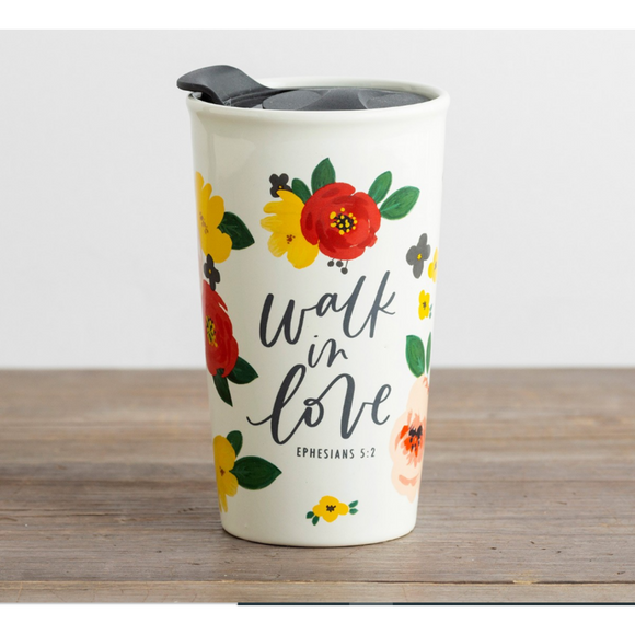 Tumbler-Ceramic-Walk In Love-#J0809