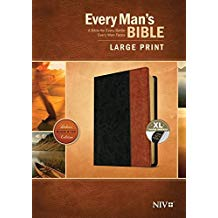 NIV-Large Print-Every Mans Bible-Black & Tan-Index