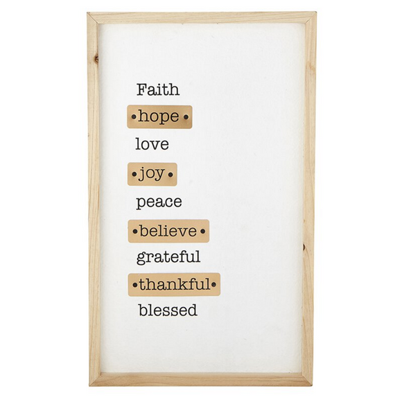 Copper Wall Art - Faith Hope Love (#G2366)