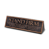 Plaque-Cast Stone-Desktop Reminder-Copper
