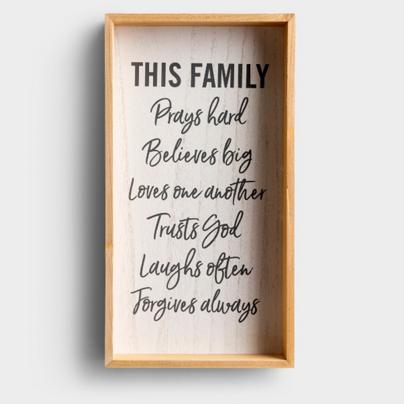 This Family - Framed Wooden Wall Art #90908