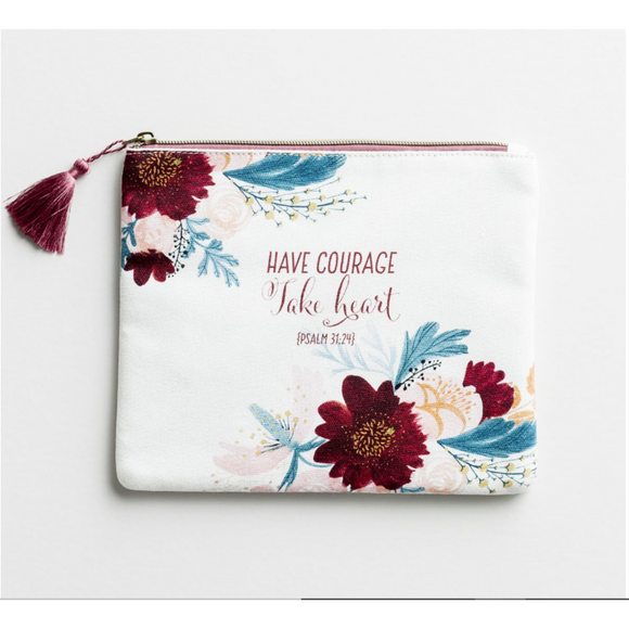 Have Courage Take Heart - Canvas Pouch