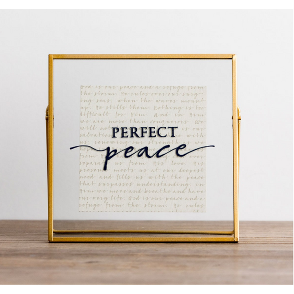 Glass & Metal Plaque-Perfect Peace/81624