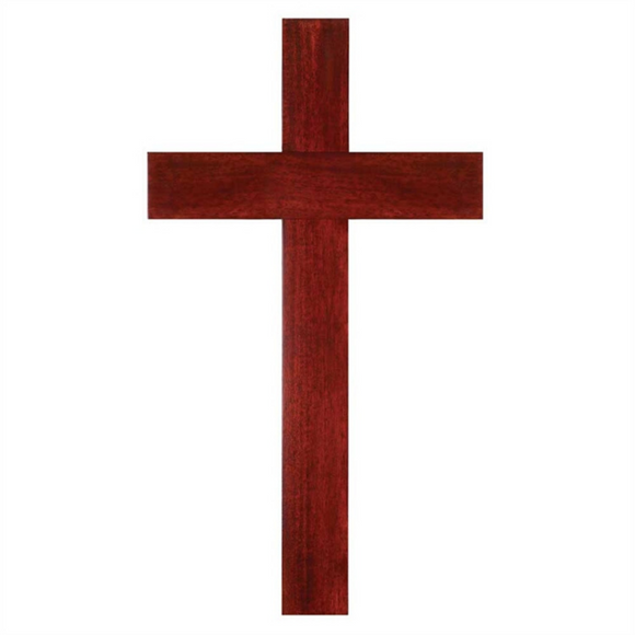 Wood Wall Cross-Mahogany/12H-WWC21
