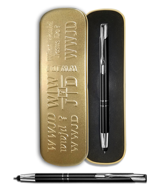 WWJD Pen - Gold Tin Box (#401G)