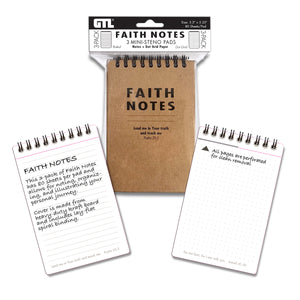 Faith Notes Mini-Steno Pads (Pack of 3)
