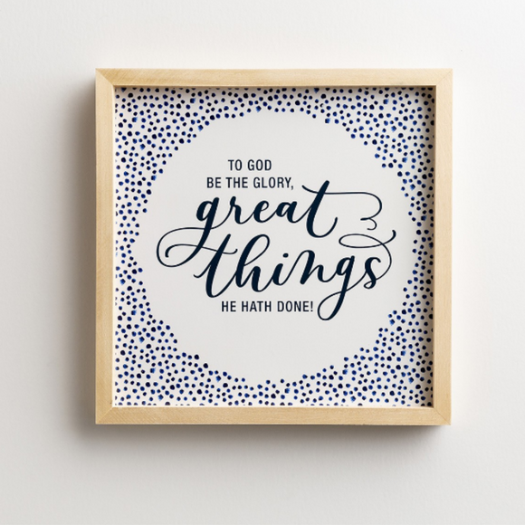 Wood Framed Wall Art-Great Things-#91482