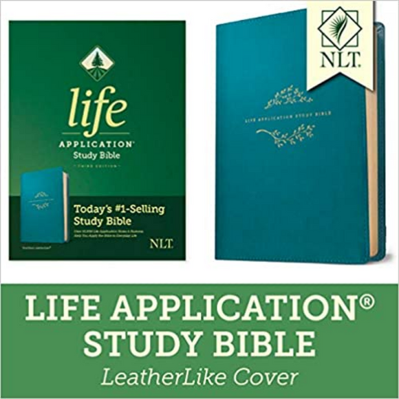 NLT-Life Application Study Bible, (Third Ed),  LeatherLike, Teal Blue