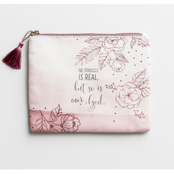 The Struggle Is Real - Canvas Pouch