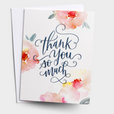 Thank You - Pink Floral Card