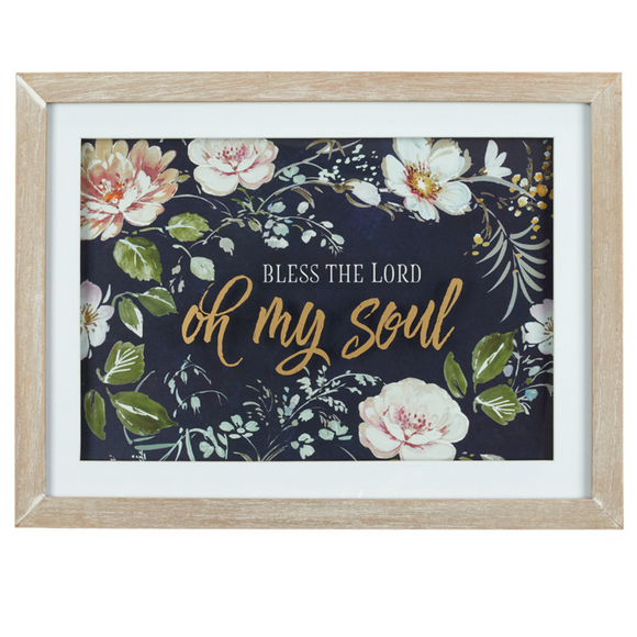 Bless The Lord Oh My Soul Wall Plaque - Psalm 103:1
