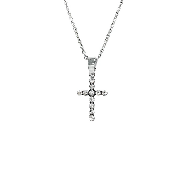 Cross Necklace - Diamond