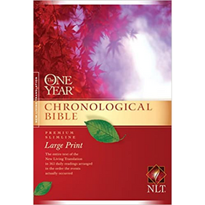 NLT-Large Print-One Year Chronological Bible-Premium Slimline-SC