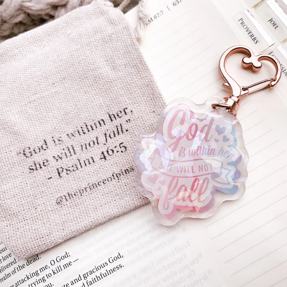 Psalm 46:5 Holographic Keychains