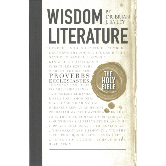 Wisdom Literature-Proverbs and Ecclesiastes