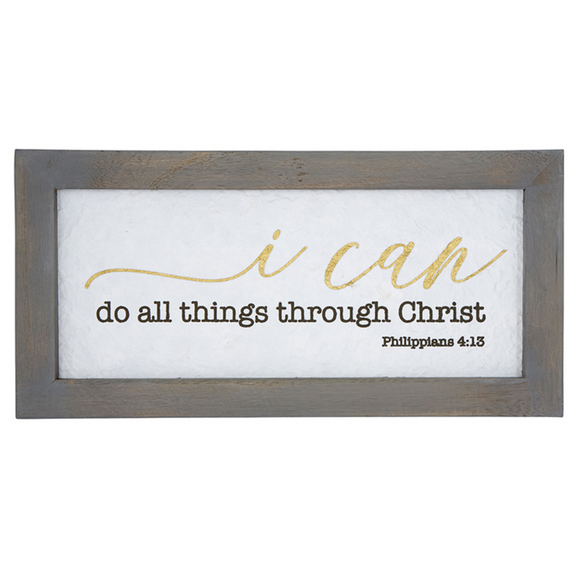 Wall Art-Framed-C - Through Christ - #F4641