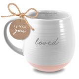 Ceramic Mug-Textured White