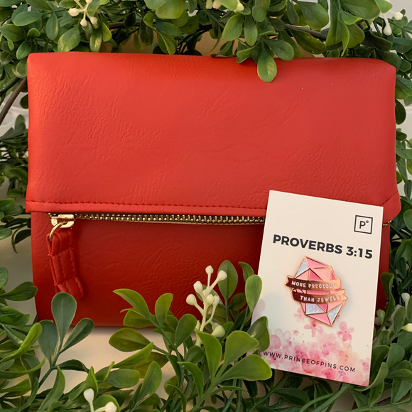 PROVERBS 3:15 X RED PURSEBOOK