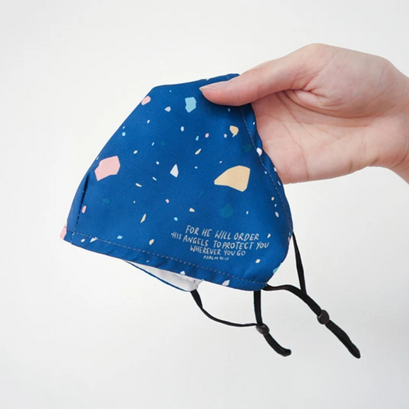 Reusable Face Mask - He Will Order His Angels (Adult) Blue