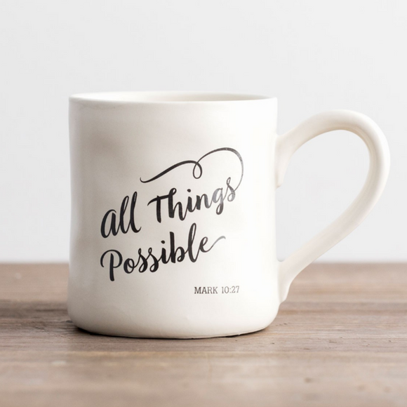 Hand-Thrown Mug - All Things Possible (#71456)