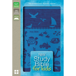 NIrV-Study Bible For Kids-Blue