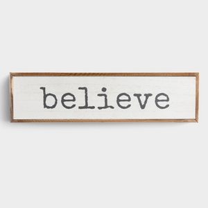 Believe - Wooden Framed Wall Art (J0512)