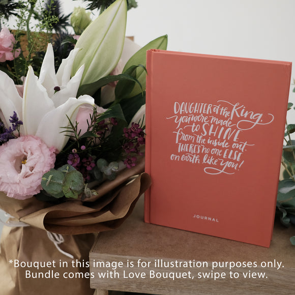 Daughter of the King Journal with Bouquet
