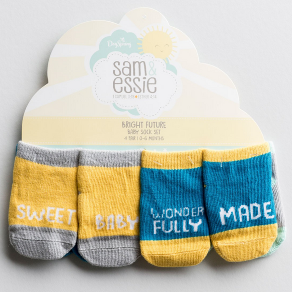 Baby Sock Set-Bright Future (4 Pair)-#71031