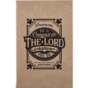 Laser Engraved Hardcover Journal -Commit to the Lord-JLL007