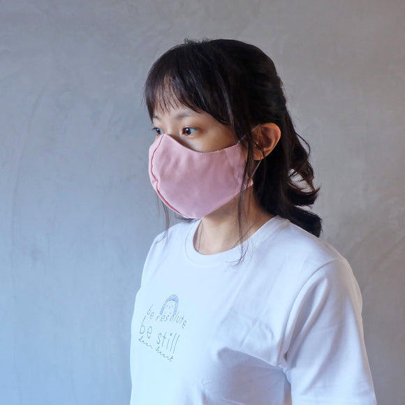 Reusable Face Mask - Pink Pastel Canvas
