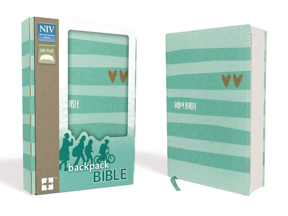 NIV-Backpack Bible-Turquoise/Gold Flexcover