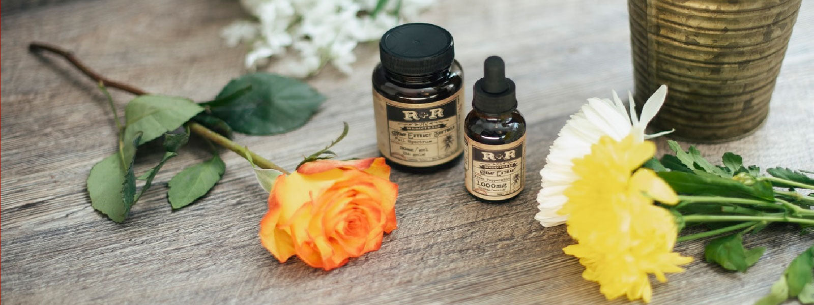 Essential oil with rose