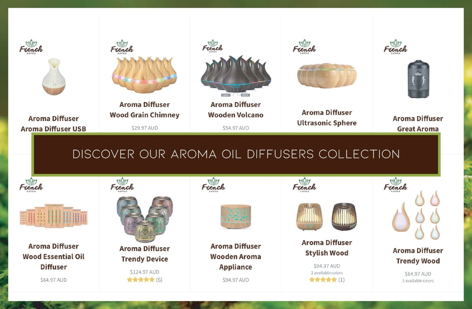 Aroma diffusers collection