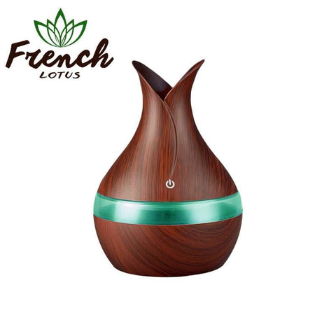 French Lotus™ | <b>Aroma Diffuser</b><br> Wood Grain Chimney (300mL) - French Lotus