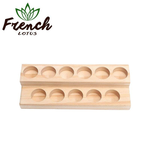 French Lotus™ | <b>Essential Oil Accessories</b><br> Wooden Oils Holder (5-15mL) - French Lotus