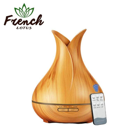 French Lotus™ | <b>Aroma Diffuser</b><br> Wooden Volcano (400mL) - French Lotus