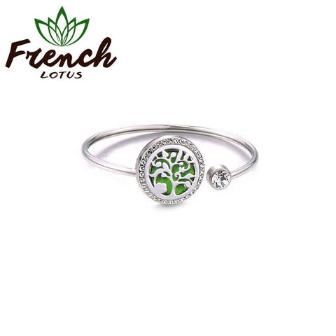 Aromatherapy Bracelet Stainless Steel | French Lotus