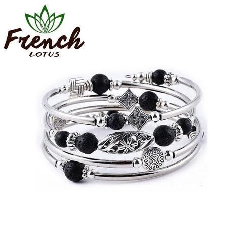 Bracelet Lava Stone | French Lotus