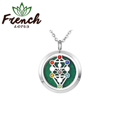 Chakra Necklace Pendant | French Lotus