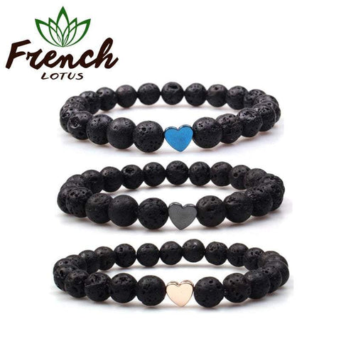 Lava Beads Bracelet | French Lotus