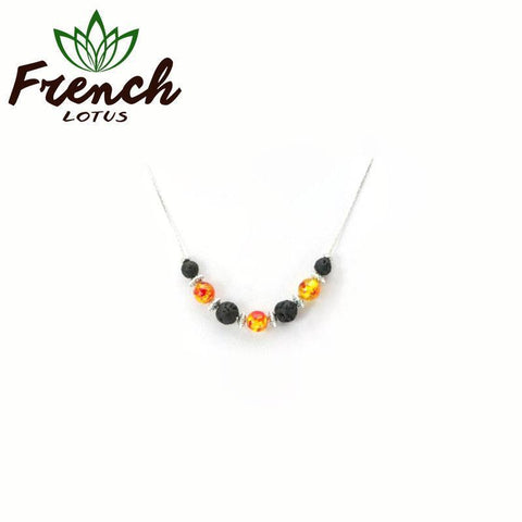 Lava Stone Essential Oil Diffuser Necklace | French Lotus